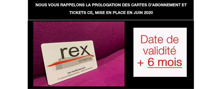 RAPPEL : Prolongation de vos cartes d'abonnement et tickets CE!