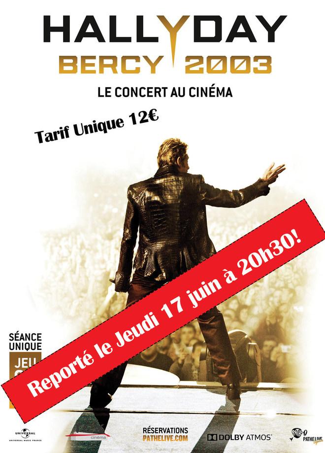 Concert Johnny Hallyday : reporté le Jeudi 17 juin à 20h30