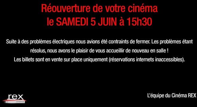 Cinéma OUVERT : Problèmes électriques résolus