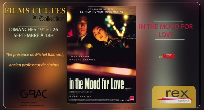 Films Cultes : IN THE MOOD FOR LOVE - 19 et 26 Septembre à 18h