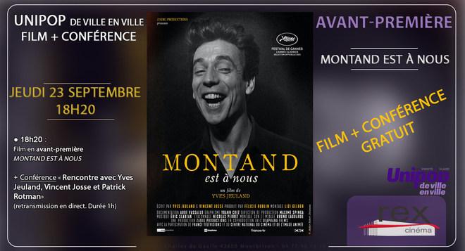 Avant-Première : Montand est à nous - Jeudi 23 septembre 18h20