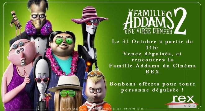Venez rencontrer la FAMILLE ADDAMS du Cinéma REX ! Le Dimanche 31 Octobre