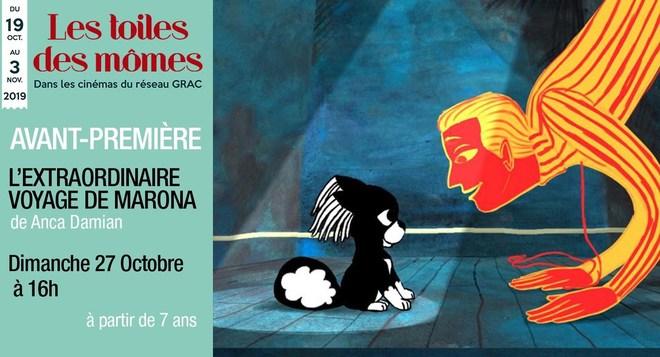 Avant-Première - L'extraordinaire voyage de Marona - le 27 octobre à 16h