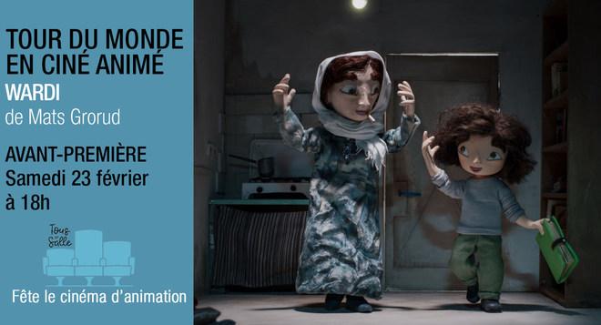 Tour du monde du cinéma d'animation  - WARDI en Avant Première - Samedi 23 février à 18h