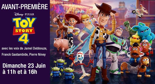 Avant Première - Toy Story 4 - 23 juin