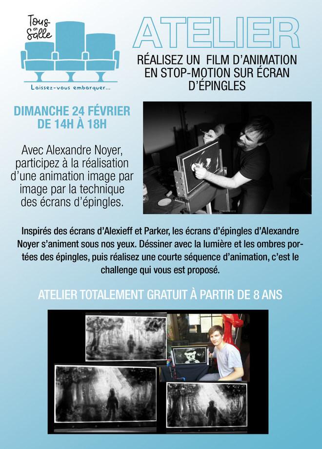 Atelier de réalisation de films en STOP MOTION - Dimanche 24 février de 14h à 18h