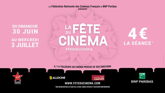 Fête du Cinéma du 30 Juin au 3 Juillet