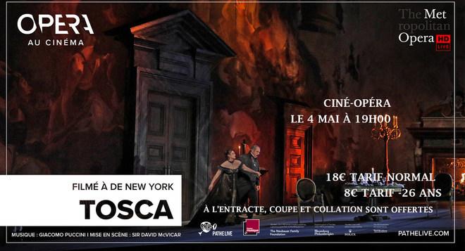 Ciné-Opéra Tosca Lundi 4 mai 19h