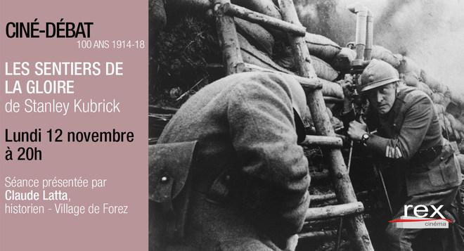 Ciné Débat - LES SENTIERS DE LA GLOIRE Lundi 12 novembre à 20h