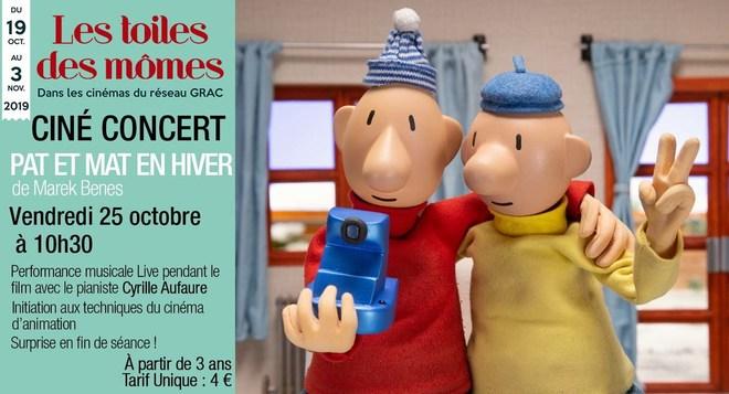 Ciné-Concert - Pat et Mat en hiver - le 25 octobre à 10h30