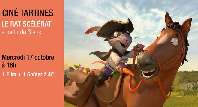 Ciné Tartines - Mercredi 17 octobre à 16h LE RAT SCELERAT