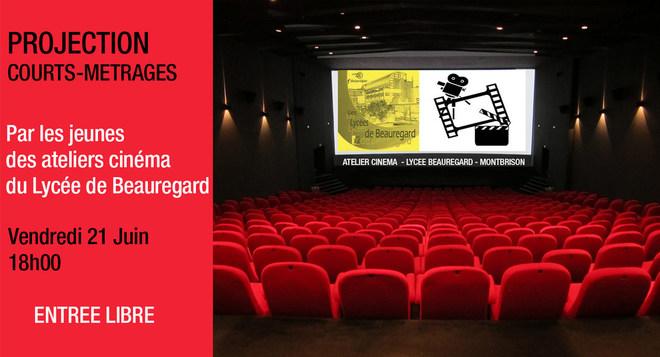 Projection de Courts Métrages par les jeunes de l'atelier cinéma de Beauregard - 21 Juin