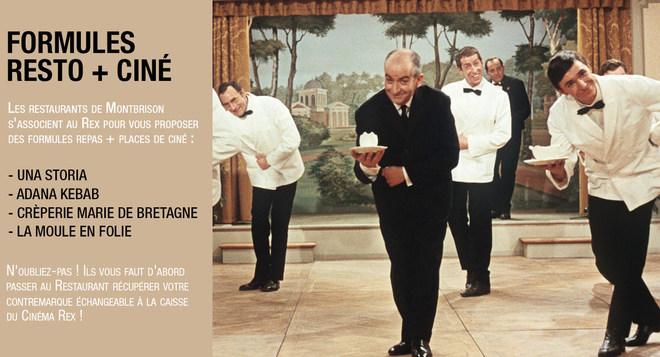 Formules Resto + Ciné avec les restaurants partenaires du Rex