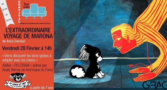 Tous en salle! Vendredi 28 février 14h- Animation canine sur L'extraordiaire voyage de Marona!