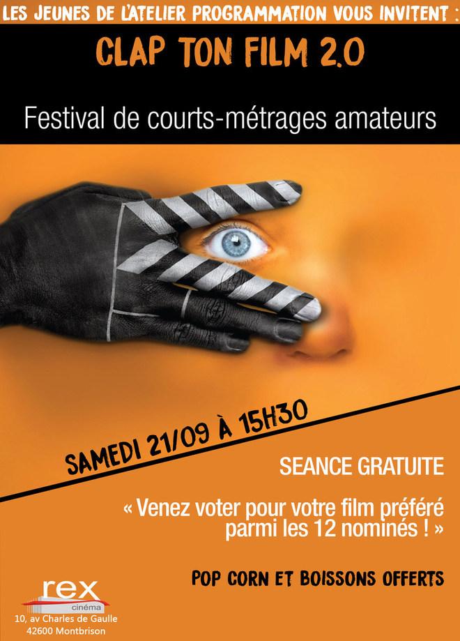 CONCOURS CLAP TON FILM 2.0 - 21 SEPTEMBRE