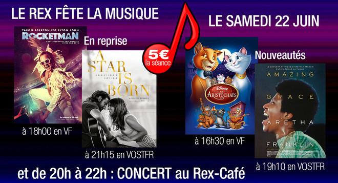Le Rex fête la Musique le 22 Juin